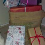 Juleopstilling med snydegaver