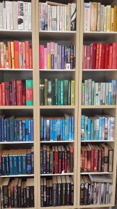 Bøger sorteret efter farve