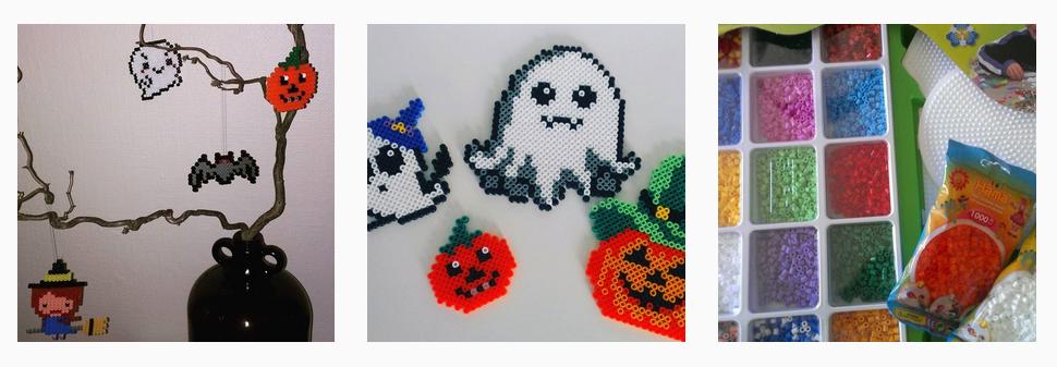 Halloween pynt med Hama midi perler